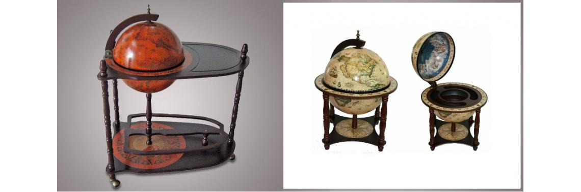 Глобус-бары напольный со столиком, настольный диаметр: 33