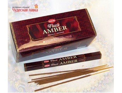 Благовония HEM Flora Masala Amber (Янтарь)