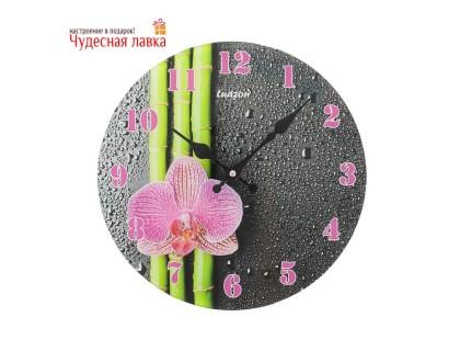 """Настенные часы Luason """"Бамбук и орхидея"""""""