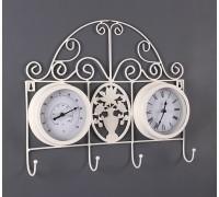 Часы-вешалка металлические