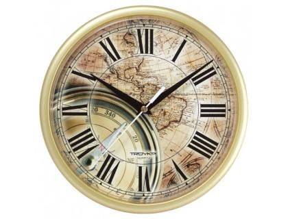 """Настенные часы Тройка """"Карта"""""""