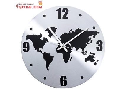 """Настенные часы """"Карта мира"""""""