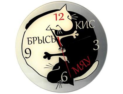"""Настенные часы """"Кис Мяу Брысь"""""""