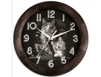 """Часы настенные Вега """"Кошки"""""""