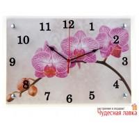 """Часы настенные Сюжет """"Веточка орхидеи"""""""