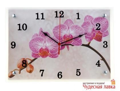 """Настенные часы Сюжет """"Веточка орхидеи"""""""