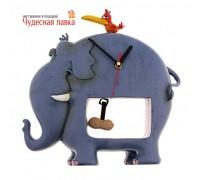 Часы «Слон и птичка» настольные
