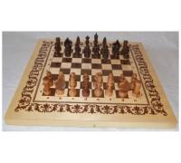 """Набор игр """"3 в 1"""": шахматы, нарды, шашки (покрытие доски: лак)"""