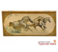 """Нарды деревянные """"Табун лошадей"""" (большие)"""