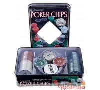 Набор для покера 100 фишек с номиналом