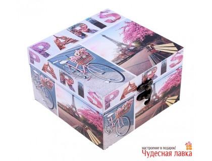 """Шкатулка квадратная """"Париж"""""""