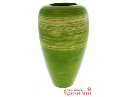 Ваза из бамбука зеленая