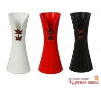 """Ваза керамическая со шнуровкой"""" (черная)"""
