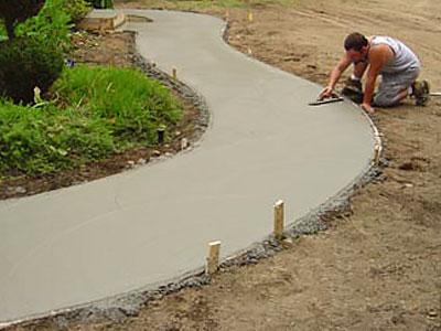 Как залить дорожки на даче цементом