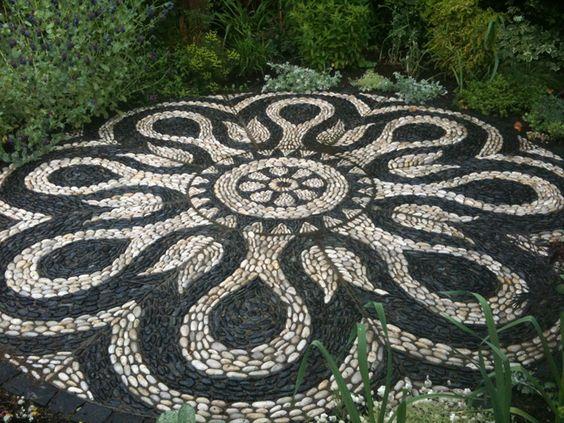 Мозаика в бетоне из камня как сделать