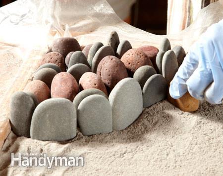 Сухой метод изготовления плитки с мозаикой для дорожки