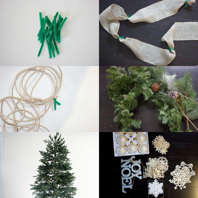 Что понадобится для украшения новогодней елки лентой