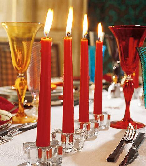 Классические свечи в Новый год