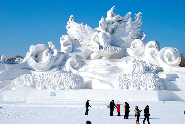 Харбин. Ледовый фестиваль. Снежная фигура