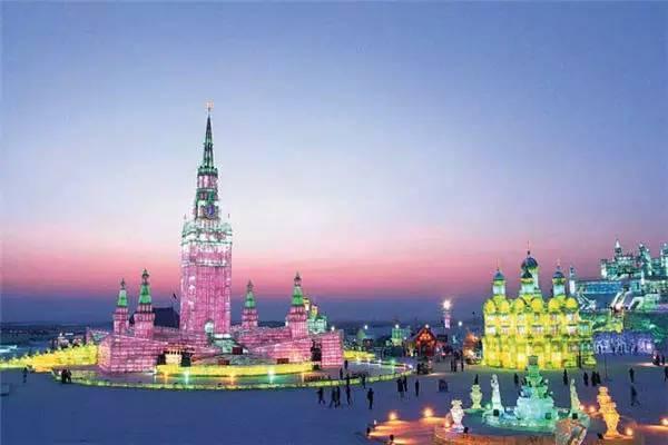 Харбин. Ледовый фестиваль. Подсветка