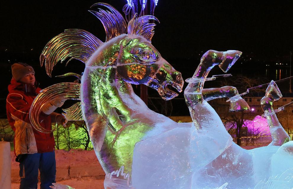 Волшебный лед Сибири в Красноярске